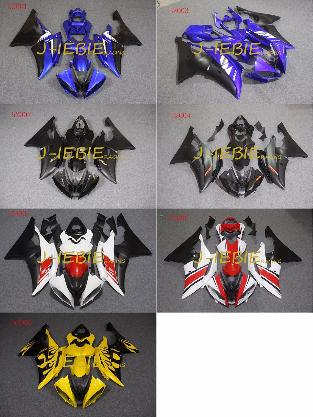 ABS Injection Fairing Body Work Frame Kit for Yamaha YZF 600 R6 2008 2009 2010 2011 2012 2013 2014 2015