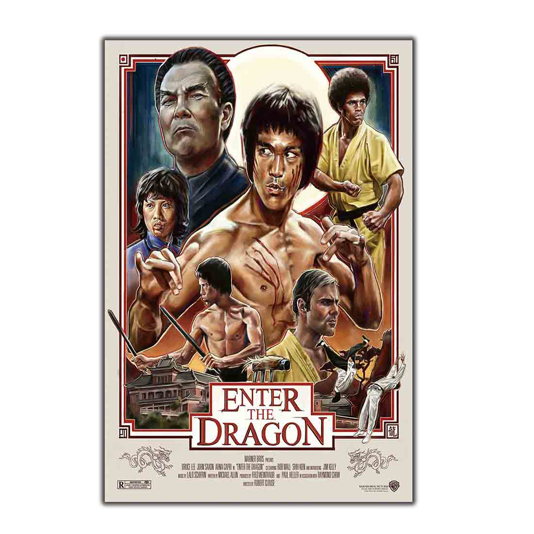 Bruce Lee Enter The Dragon Film Kung Fu Art Wall Posters A3//A4