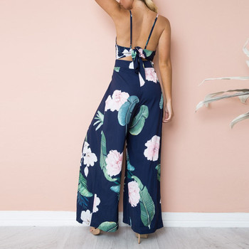 Womail bodysuit Women Summer Sleeveless Strip Jumpsuit Print Strappy Holiday Long Playsuits Trouser Fashion 2019 dropship f28 4