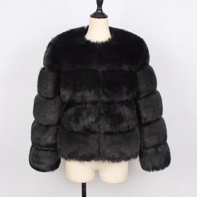 новинка 2020 зимнее теплое пальто из лисьего меха женская однотонная фотография