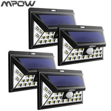 Mpow 24LED Solar Powered Lights Outdoor Driveway Lamp Wireless Motion Sensor Lighting