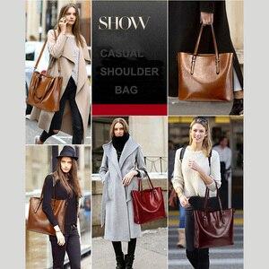 Image 3 - Shoulder Bags for Women 2020 Famous Brand Luxury Handbag Women Bags Designer Shoulder Crossbody Bag Soft Leather Handbag Vintage