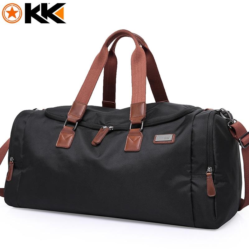 KAKA Casual Large Capacity Male Shoulder Bag Travel Men Luggage Bags Waterproof Oxford Handbag Travelling Duffel