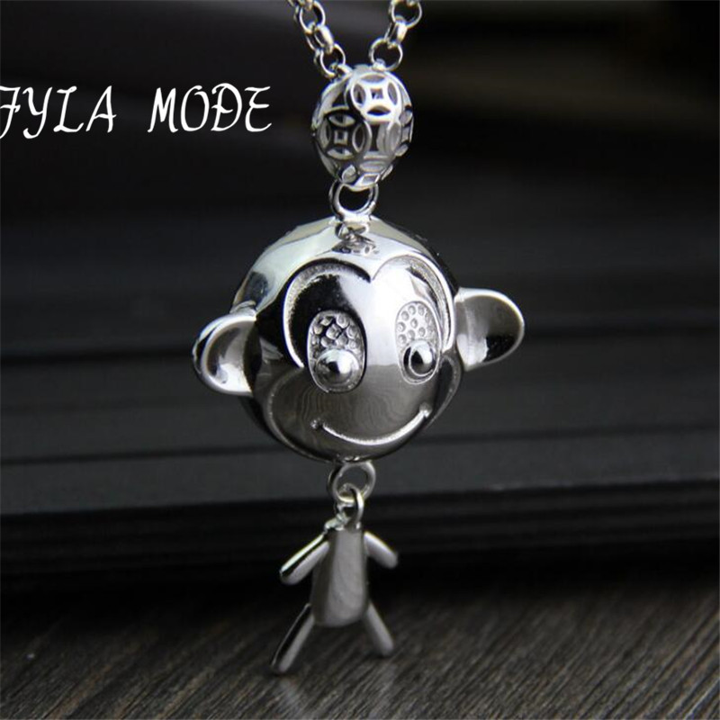 925 Sterling Silver Cute Monkey Necklaces & Pendants For Women 3D Stereoscopic Collares Necklace Jewelry Collier Femme TYC274925 Sterling Silver Cute Monkey Necklaces & Pendants For Women 3D Stereoscopic Collares Necklace Jewelry Collier Femme TYC274
