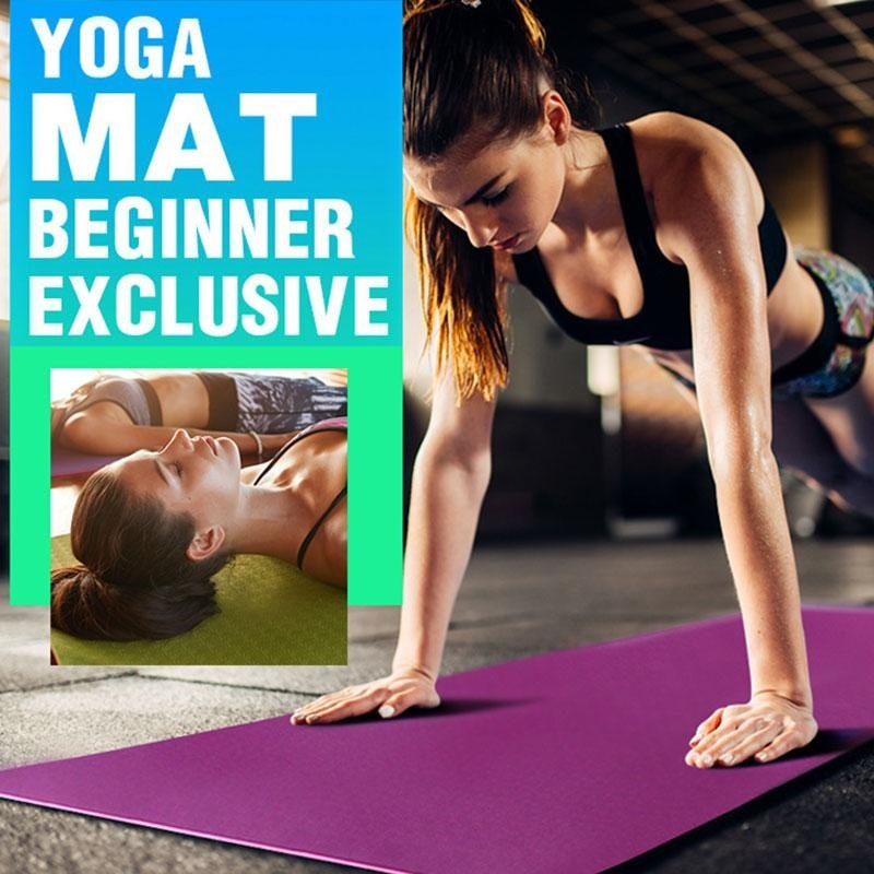 US $7 2 35% OFF|8 Color 6MM TPE Non slip Yoga Mats For Fitness Tasteless  Pilates Mat Gym Exercise Sport Mats Pads with Yoga Bag Yoga Strap-in Yoga