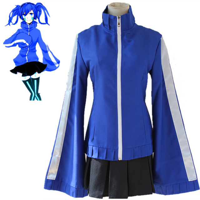 MekakuCity Actors Kagerou Project Ene Enomoto Takane costumes cosplay  costumes dress face stickers wig