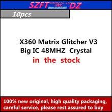SZFTHRXDZ   10PCS   X360 Matrix Glitcher V3  Blue PCB Big IC 48MHZ  Crystal oscillator