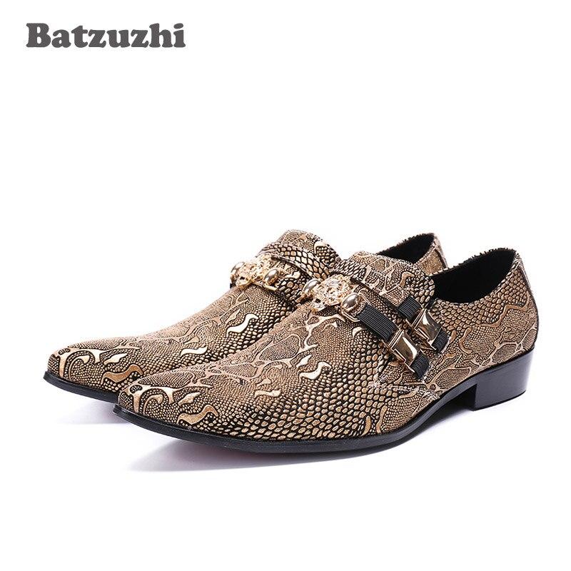 Здесь продается  Italian Style Handmade Men Shoes Pointed Toe Flats Leather Business Dress Shoes Gold Designer