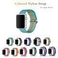 woven nylon watch band for apple watch 38mm 42mm strap sports wrist band men women watch bracelet & Striped color watch