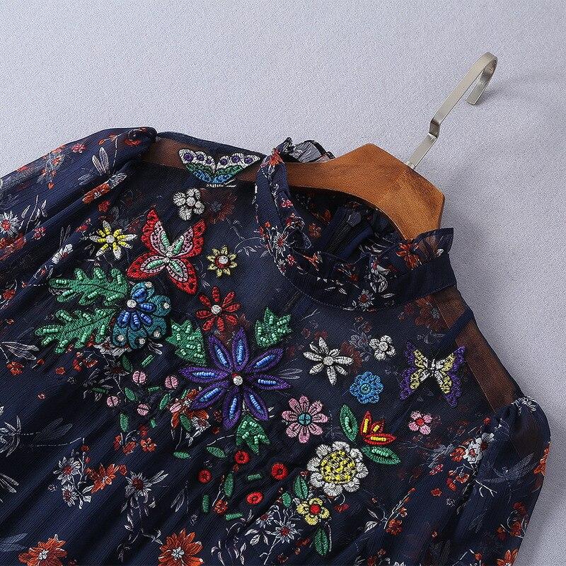 Femmes Luxe Qualité Mode Marque Partie Européenne De Printemps 2019 Ws0311 Supérieure Style Robe Nouvelle Design qqaS8txR