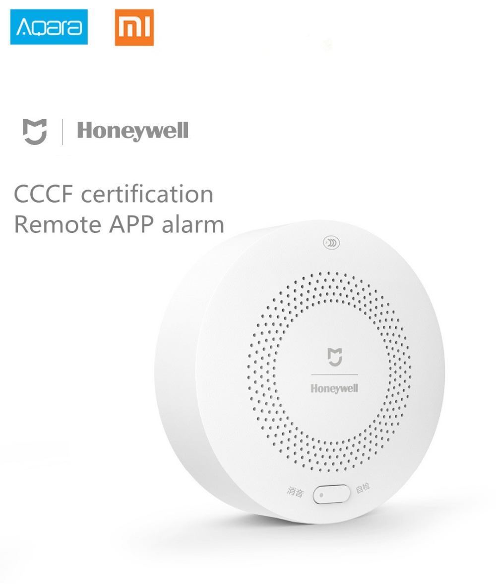 Xiaomi honeywell detector de alarme gás, aqara zigbee controle remoto ch4 monitoramento teto & montado na parede fácil instalar trabalho mijia app