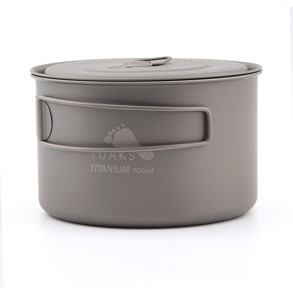 TOAKS POT-700-D115-L Ultralight Outdoor Camping Titanium Pot 0.3mm thickness Titanium cup with cover 700ml toaks pot 1350 ultralight titanium 1350ml pot with bail handle outdoor camping tableware