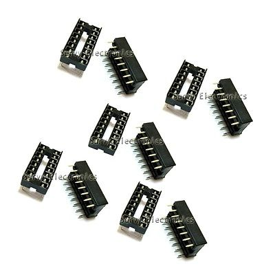 50PCS 16pin DIP IC Socket Adaptor Solder Type Socket Pitch Dual Wipe Contact