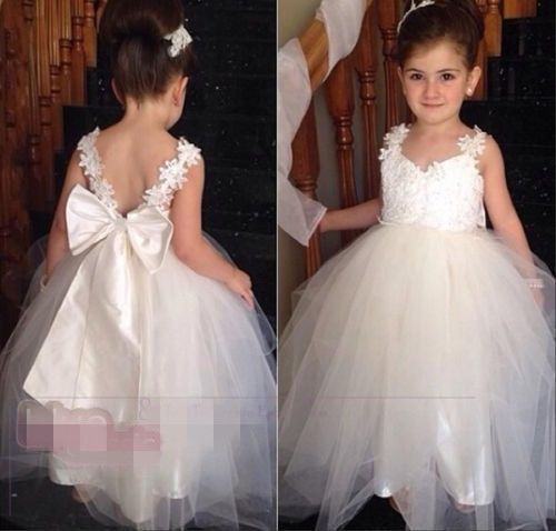 New Flower Girl Princess Dress Kid Party Pageant Wedding Bridesmaid Tutu Dresses Girls  Dress handmade tulle flower girl dress princess flower tutu dresses children kid baby pageant bridesmaid wedding party formal dresses