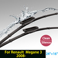 "Wiper blades for Renault Megane 3 (from 2008 onwards) 24""+16"" fit bayonet type wiper arms only HY-015"