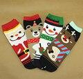 New Christmas Santa Claus Deer Female Socks Autumn Winter Cartoon 3d Straight Cotton Women Socks Wholesale