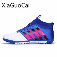 Hot Sale Turf Men's Soccer Shoes Male Football Boots Breathable and Waterproof Outdoor Lawn Lace Up Athletic Boot
