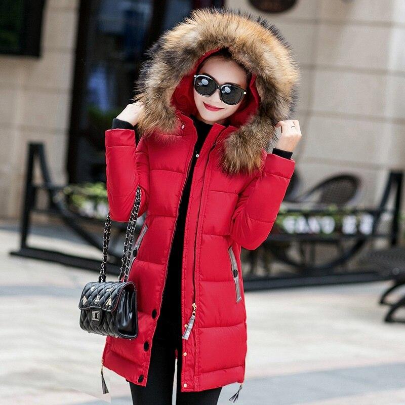 New Keep Warm Winter Long Women Coats   Parkas   Casual Female Coats Ladies Outwear Fashion Women Clothing Warm Winter Jacket FJT574