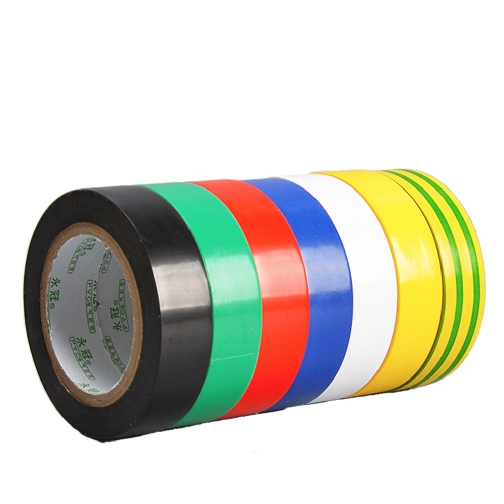 US $1 8 10% OFF|1PCS Colorful Insulation tape 1 7cm*18m wire tape  electrical bandage waterproof electrical tape flame retardant electrical  tape-in