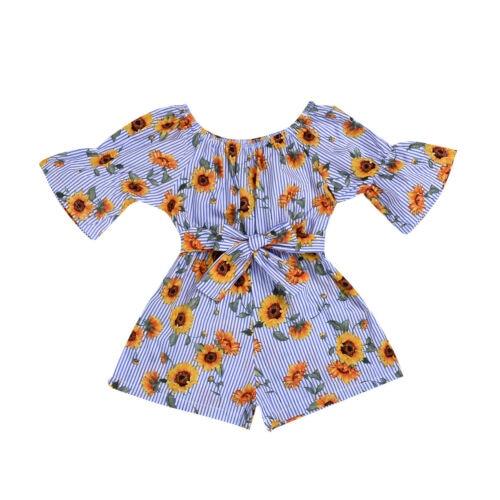 Amabile 2019 Bambini Del Bambino Della Ragazza Floreale Di Estate Del Pagliaccetto Playsuit Della Tuta Outfits Vestiti Lieve E Dolce
