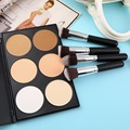 4 pcs Makeup Brush + 6 Colors' Contour Palette Brush Face Powder Cosmetic kit Wholesale Top Quality