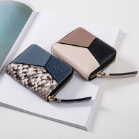 Famous Brand Fashion Genuine Leather Women Short Small Wallet Womens Grils Mini Coin Purse Lady Money