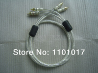 XIANGSHENG American Liton Silver Plated Double Ring Fever Audio Analogic Signal RCA Cable Wire