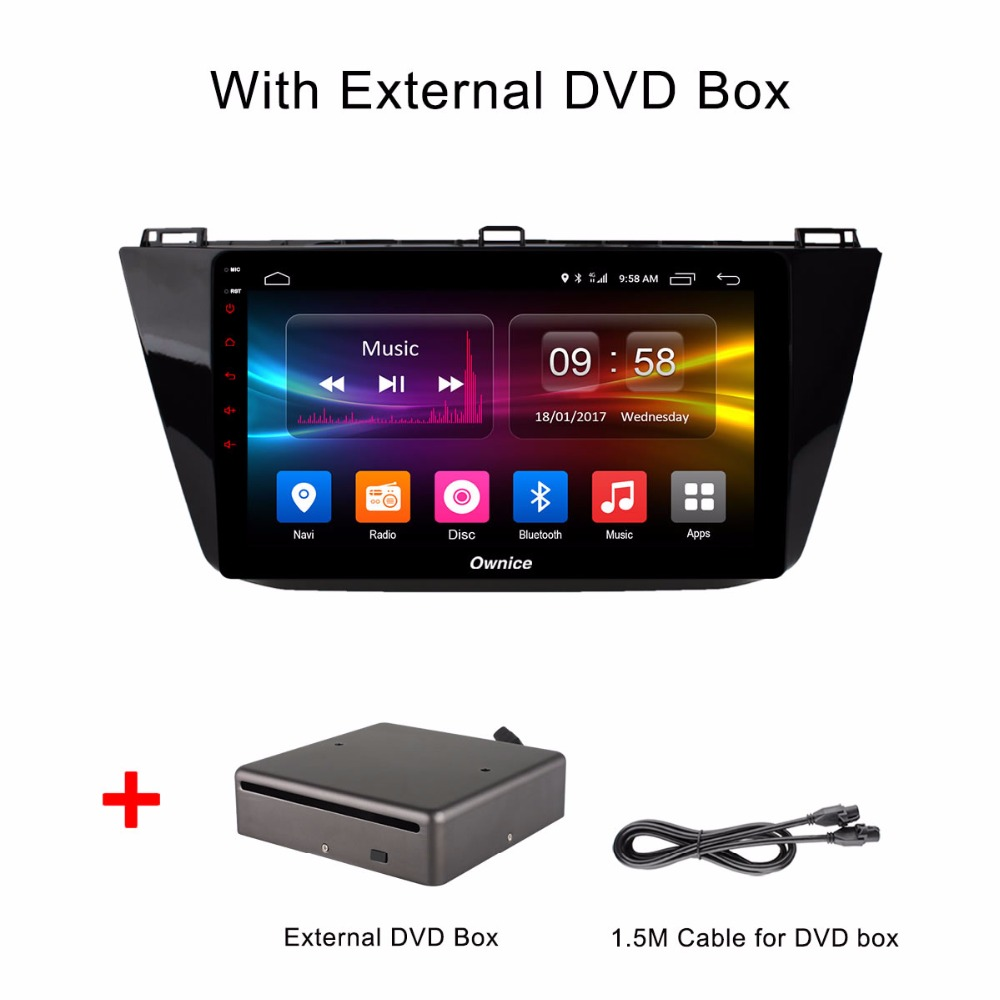 Android 6.0 Octa Core 2GB RAM+32GB ROM 10.1 inch Car DVD Player For Volkswagen VW Tiguan 2017 GPS Navi Radio With DVD box gpd xd 5 inch android4 4 gamepad 2gb 32gb rk3288