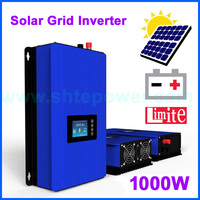 MPPT 1000w New solar grid tie inverter 1000GTIL2 LCD with battery discharge power work mode and limiter DC 22 60v 45 90v input
