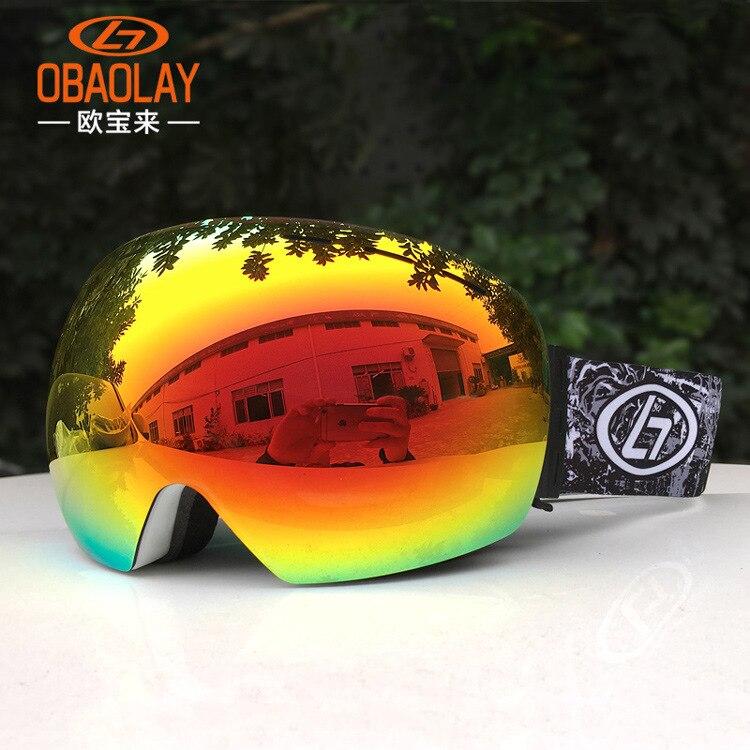 Nouveauté Anti UV double couche anti-buée lunettes de ski extérieur Anti-buée anti-vent grandes lunettes de myopie sphériques lunettes de neige