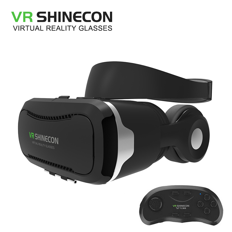 shinecon 4 0 vr box 2 0 virtual reality goggles google cardboard 3d glasses with headset for 4 5. Black Bedroom Furniture Sets. Home Design Ideas