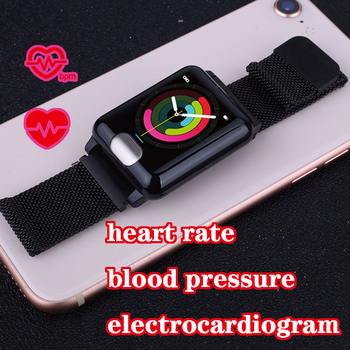 ecg smart bracelet activity fitness tracker gps watch blood pressure monitor band Wristband health with intelligent measurement