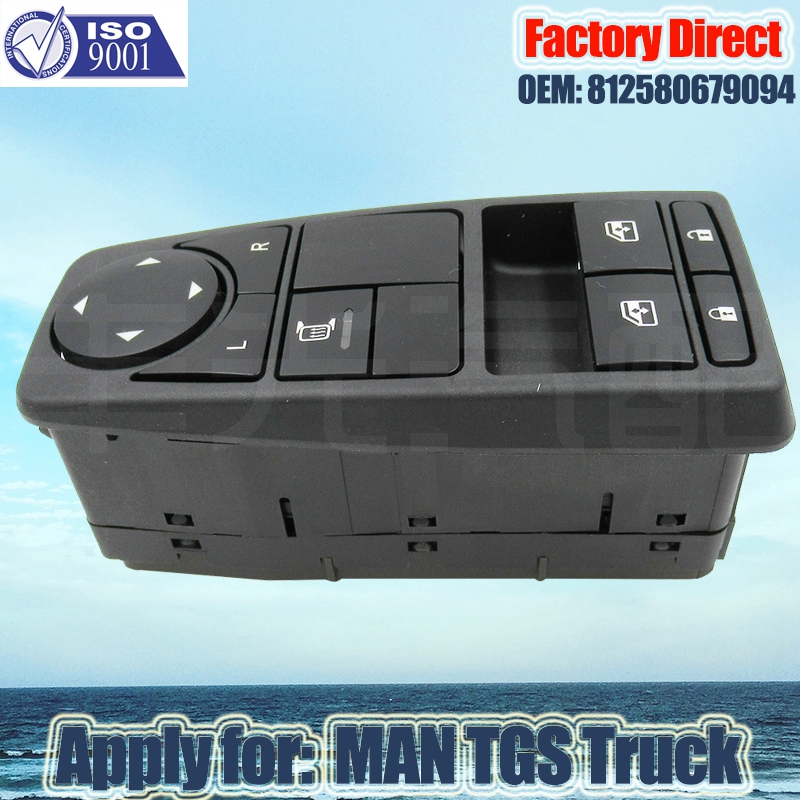Factory Direct Auto Power Window Lifter Control Switch apply For Truck parts SWITCH DRIVER SIDE 81258067094 81258067082 93570 0z010 driver master power window lifter control switch assembly side mirror folding switch button for hyundai i30