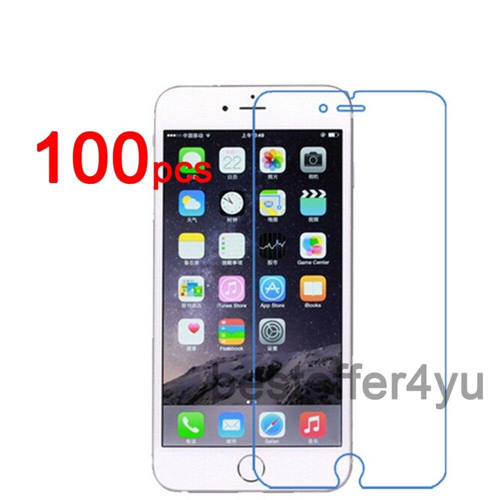 imágenes para 100 unids/lote Anti-cero CLARO Protector de Pantalla Protector de la Cubierta Para Apple iphone 6 Film + 100 unids de Limpieza paño