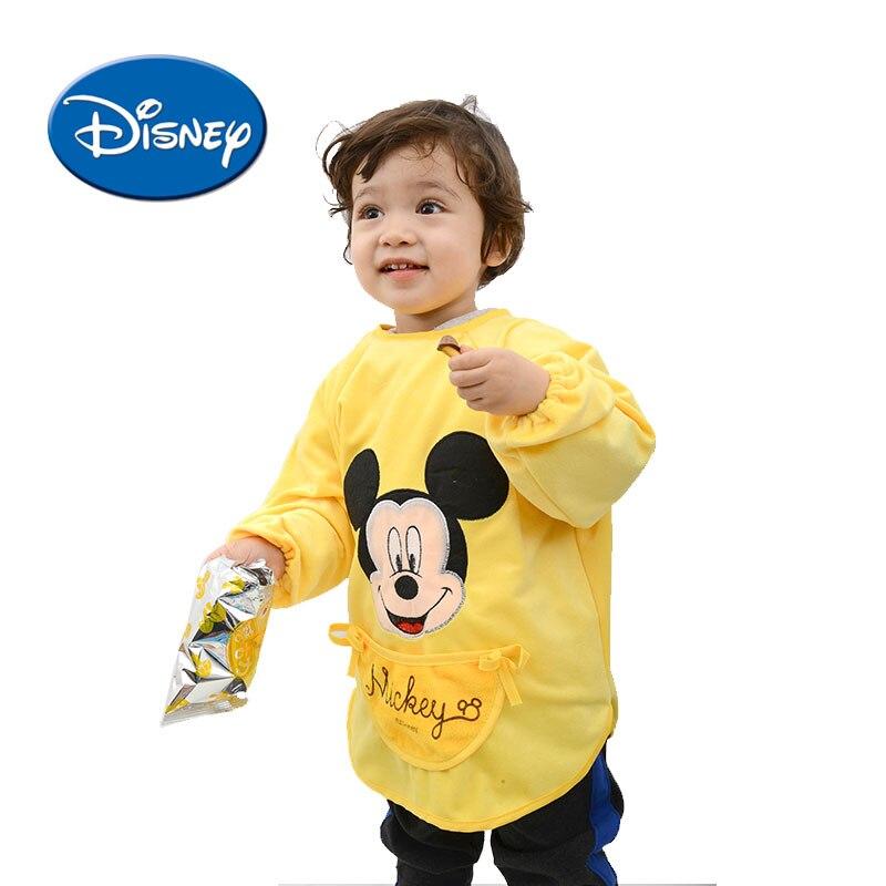 Disney Fleece Baby Bibs Mickey Burp Waterproof Saliva Towel Minnie Cartoon Children Cloths Cotton Bib Babador Accessories 1