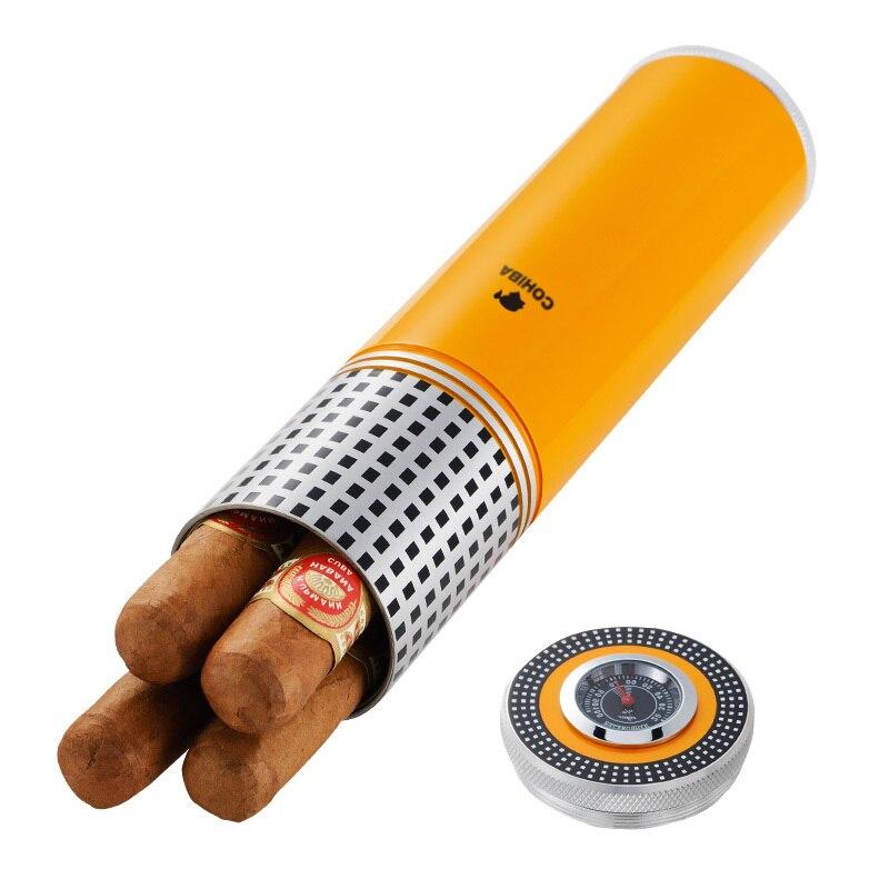 Cigar humidor travel portable metal stainless steel moisturizing tank smoking accessories moisturizing tube