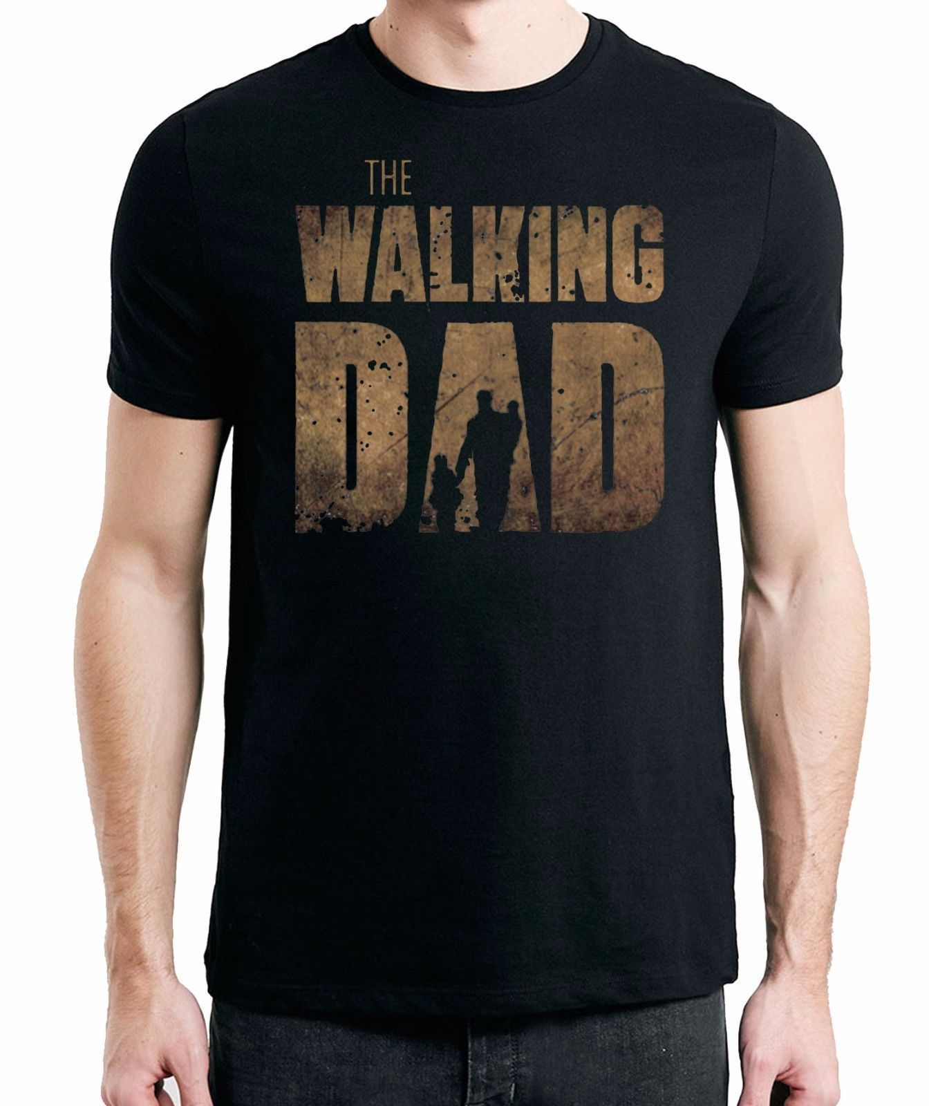 New The Walking Dad Fathers Day Birthday T-Shirt Tees Size S-3XL Summer Short Sleeves Cotton T Shirt top tee