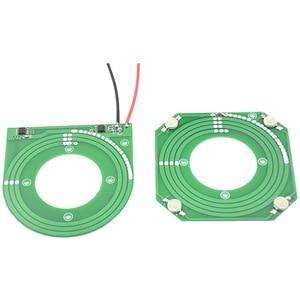 Image 1 - 5 шт./лот PCB модуль беспроводного питания, регулируемый модуль беспроводной передачи, чип 5 в 12 В 14 в, большой выход напряжения