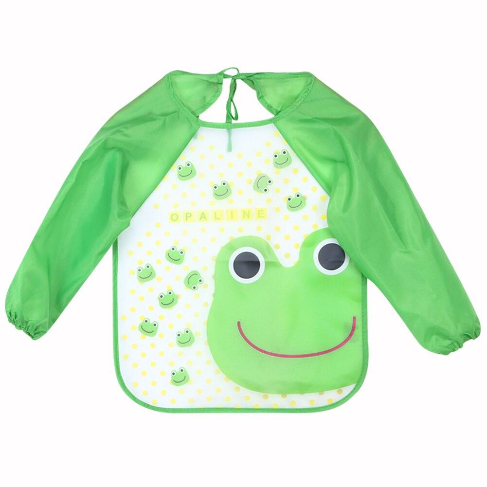 1 Uds bufanda para Infante, Baberos para bebés con dibujos animados impresos, manga larga, impermeable, accesorios de alimentación para bebés