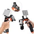 Bobber flutuante Aperto de Mão Handle com Pistola Gatilho Do Obturador/Clipe Telefone Gadgets/LED Lâmpada Luz Monte para GoPro Hero 3 3 + 4