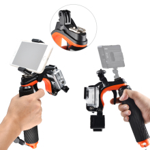Floating Hand Grip Bobber Handle with Shutter Pistol Trigger / Phone Clip Gadgets / LED Light Lamp Mount for GoPro Hero 3  3+ 4