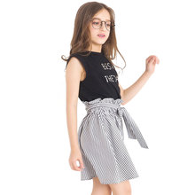 Figwit Children 2 Pcs Clothing Set Teen Girls Letter Summer Spring Autumn Teenage Cloth For 6 13 Years Dress 2019