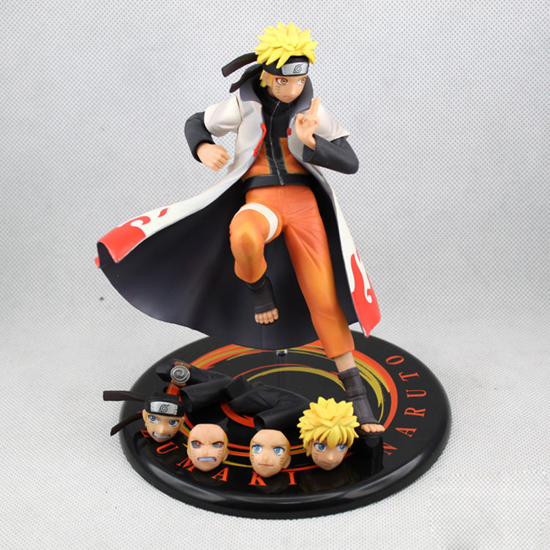ZXZ Anime Action Figure Naruto Uzumaki Naruto Yondaime Model Collection Kids Gift Boy Figurine Doll 17cm Change Face Toy anime naruto uzumaki naruto figure bond relation ver pvc action figure resin collection model toy doll gifts cosplay