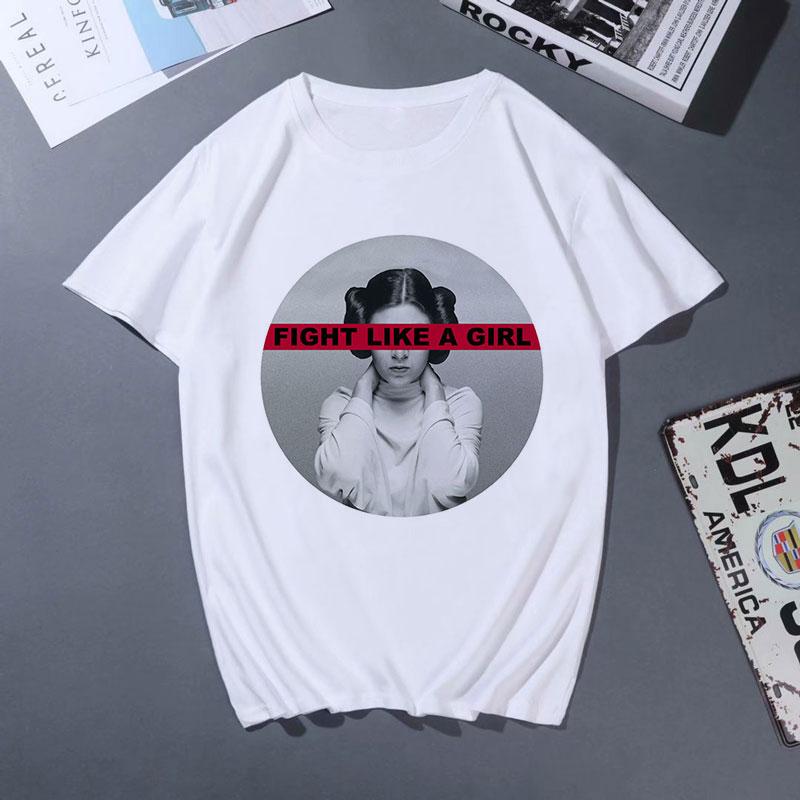 Camisetas Verano Mujer 2019 Fashion   T     Shirt   Harajuku Fight Like A Girl Letter Printed Tshirt Vogue Aesthetic Leisure   T  -  shirt   Top