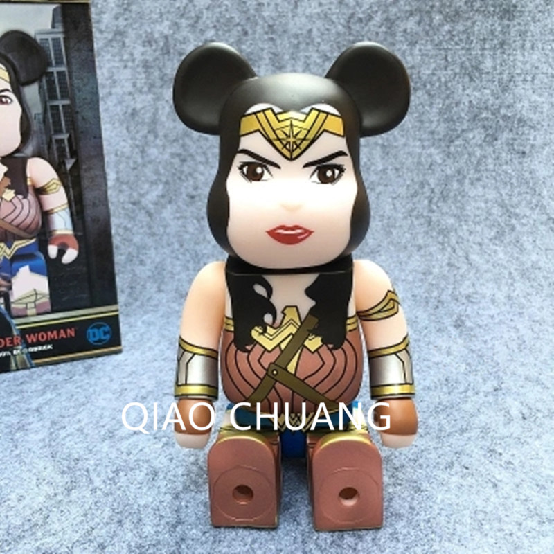Anime 400% Be @ rbrick The Avengers Diana Prince Wonder Superhero Woman Cosplay Bearbrick 28CM PVC Action Figure Model Toy G687 new hot christmas gift 21inch 52cm bearbrick be rbrick fashion toy pvc action figure collectible model toy decoration