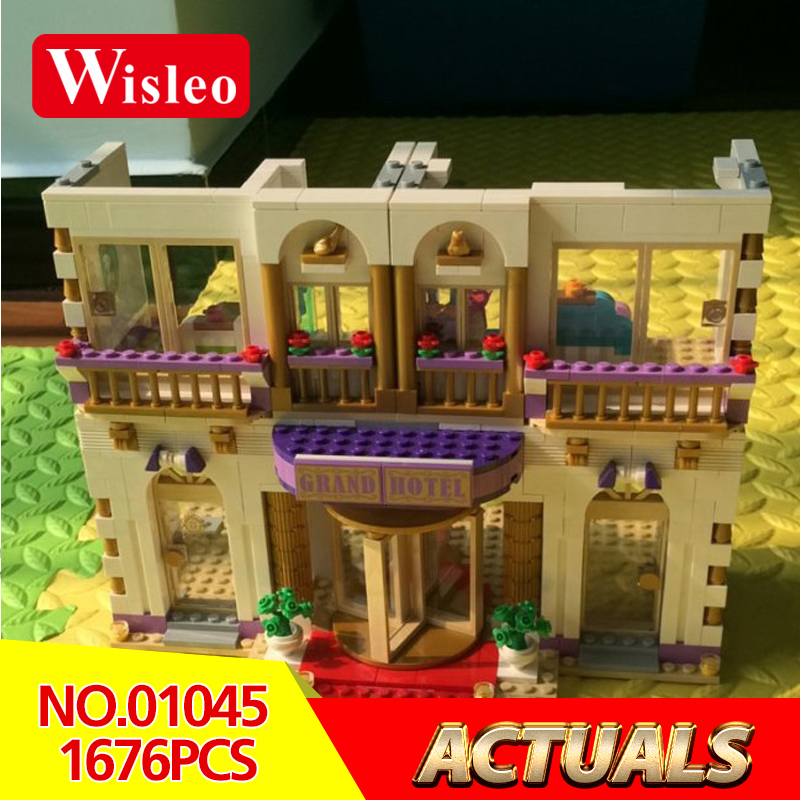 Wisleo New 01045 1676pcs GIRL SERIES amusement park games Educational Building Blocks Bricks Toys GriL ToyLegoINGlys 41101 lepin 01045 1676pcs girls series heartlake grand hotel set children eucational building blocks bricks toys model gift 41101