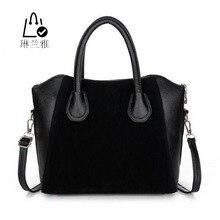 Linlanya нубук hot! смайлик лоскутное модные женские мешок сумки сумка женщин