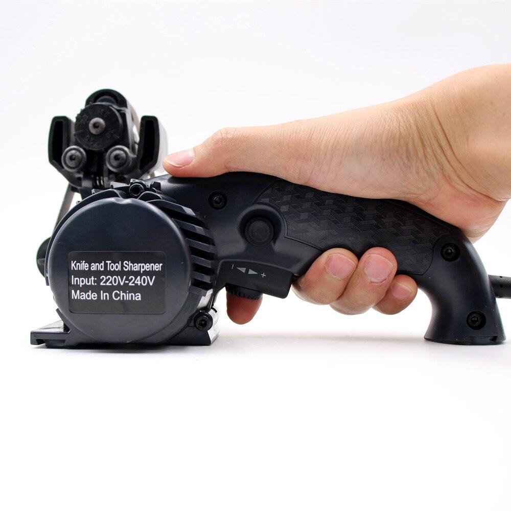 Lihuachen электрическая точилка для ножей камень автоматический шлифовальный Регулируемый для кухонных ножей инструмент точилка абразивные р... - 6