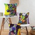 Watercolor Akita Boston Terrier Boxer Dog Print Custom Car Sofa Chair Decorative Cushion Covers Home Decor Wholesale