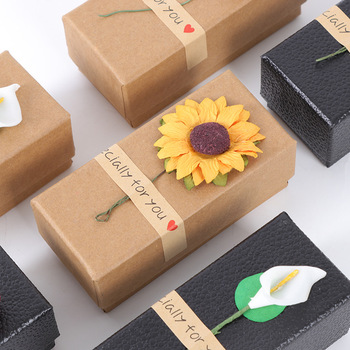 30pcs high quality small fresh lipstick box gift package box kraft paper essential oil sample package box